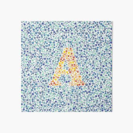 """""""A"""" Eye Test Letter Art Board Print"""