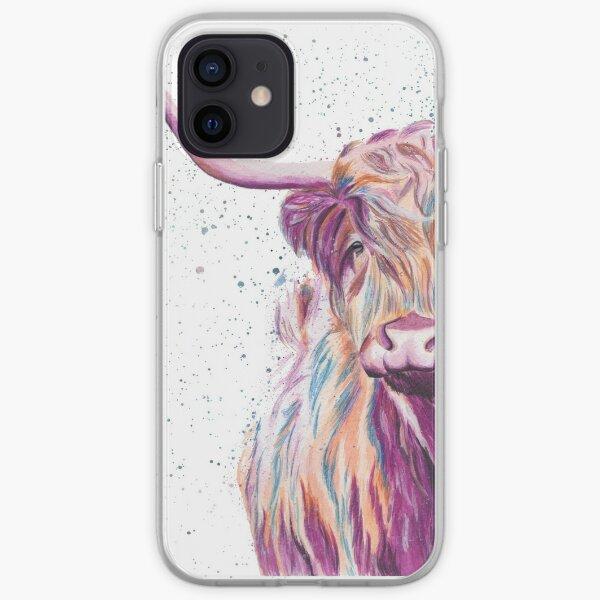 Multi-coloured Cow iPhone Soft Case