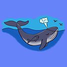 Cute whale and baby whimsical design by FrogFactory
