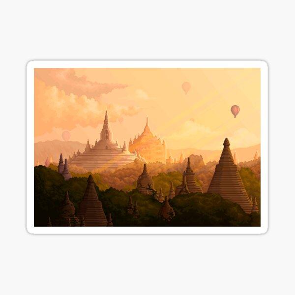 Bagan Myanmar Pegatina