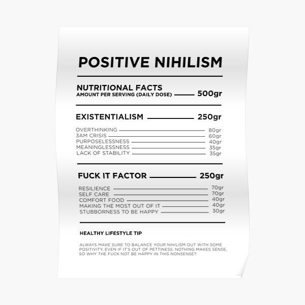 Positive nihilism Poster