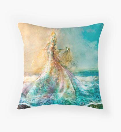 The Shell Maiden Throw Pillow