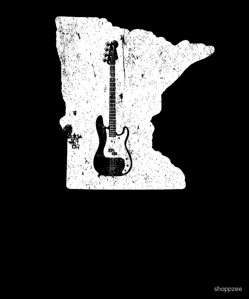 Minnesota Bass Player T Shirt Bass Guitar T Shirt by shoppzee