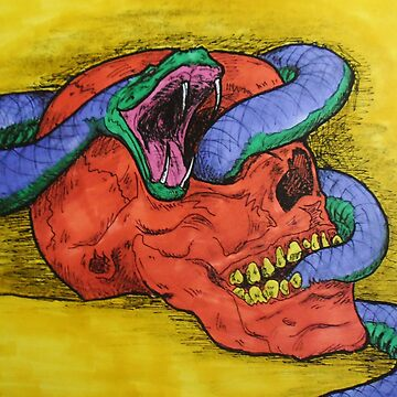 Snake and Skull by BikerDa