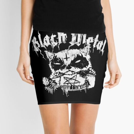 Grim Corpse Paint Raccoon | Trve Black Metal Edition Mini Skirt