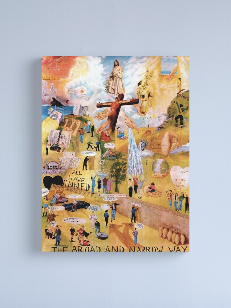Alternate view of The Broad and Narrow Way Canvas Print