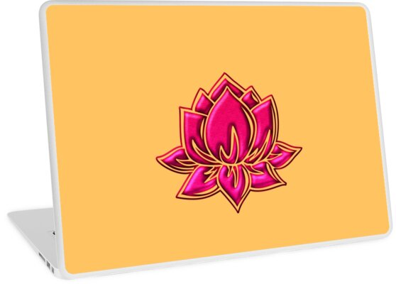 Lotus Flower Symbol Wisdom Enlightenment Buddhism Zen Laptop