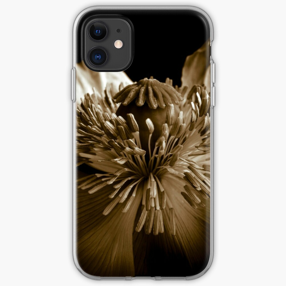 Sepia Poppy iPhone Case & Cover