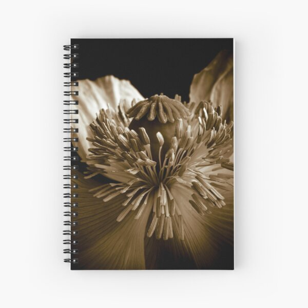 Sepia Poppy Spiral Notebook