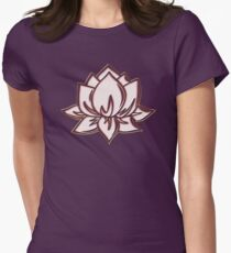 Lotus Flower Symbol Wisdom & Enlightenment Buddhism Zen Women's Fitted T-Shirt