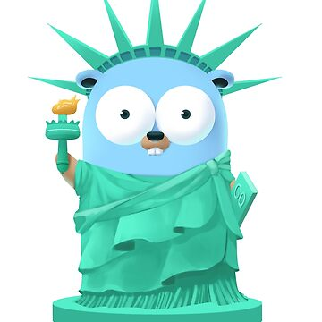 Golang Gopher Go Liberty by clgtart