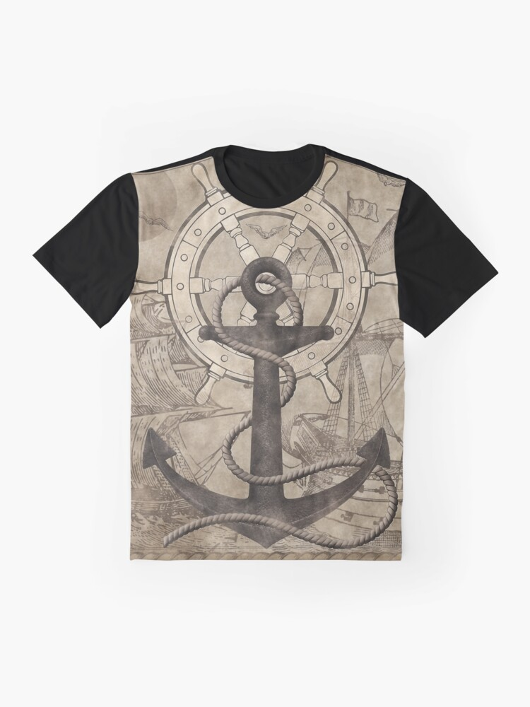 Alternate view of Rudder and Anchor Graphic T-Shirt