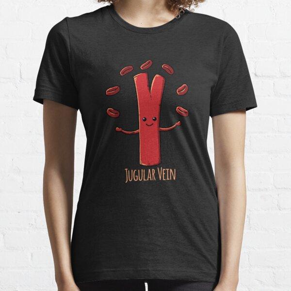 Funny Anatomy Jugular Vein Nurse Doctor Medical Student  Essential T-Shirt