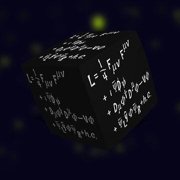 Standard model of partical physics langrangian, cubed - concept dimensions. by funkyworm