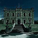 Martindale Hall, Frontview, in Moonlight by pablosvista2
