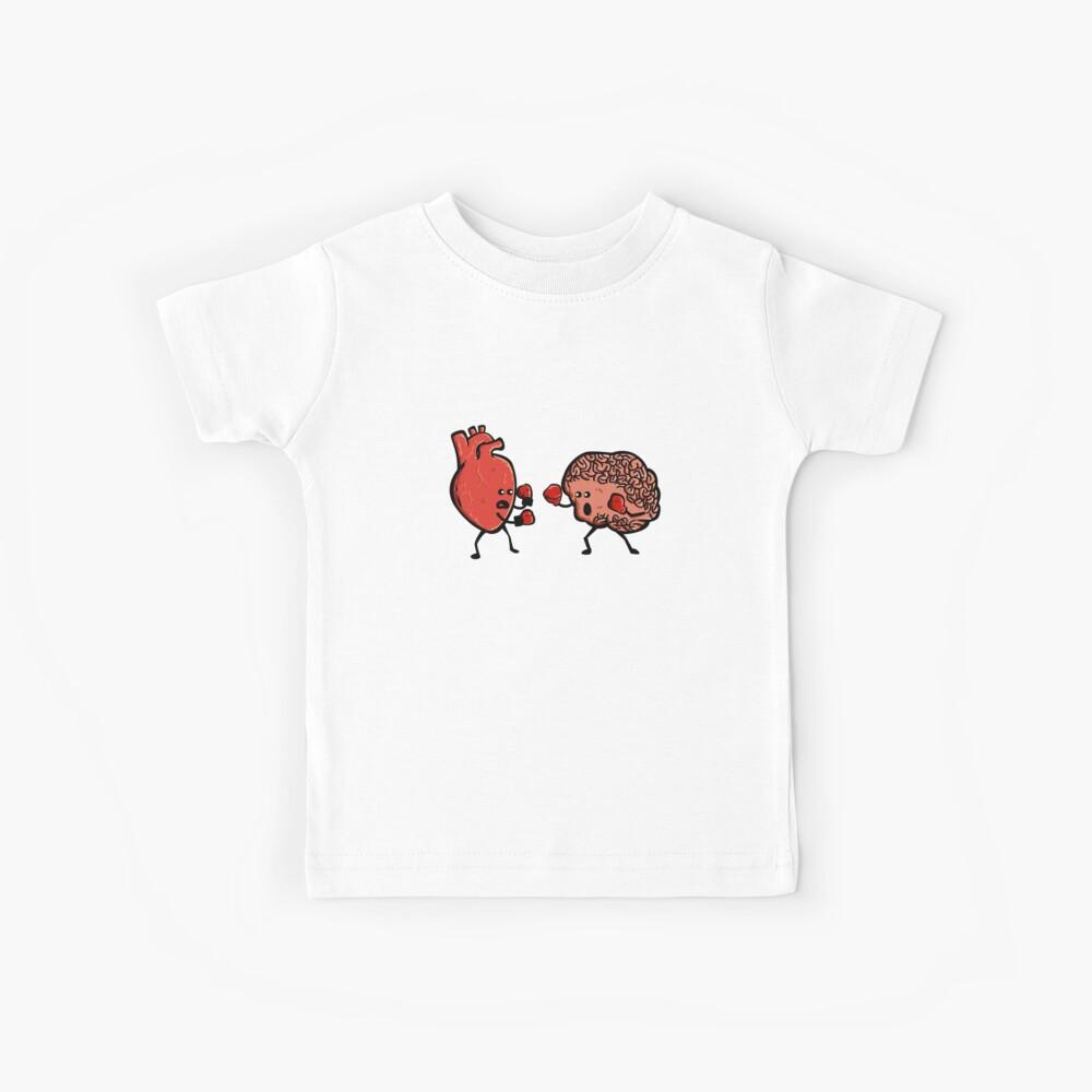 Herz und Gehirn Boxing Mind Funny Anatomie RN Arzt Krankenschwester Kinder T-Shirt