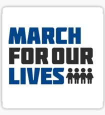 march for our lives logo Sticker