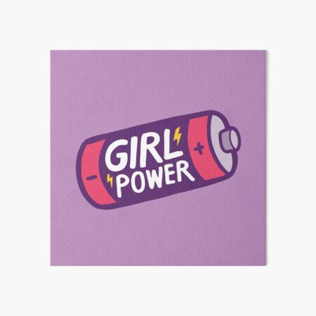 Girl Power Art Board Print