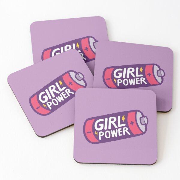 Girl Power Coasters (Set of 4)