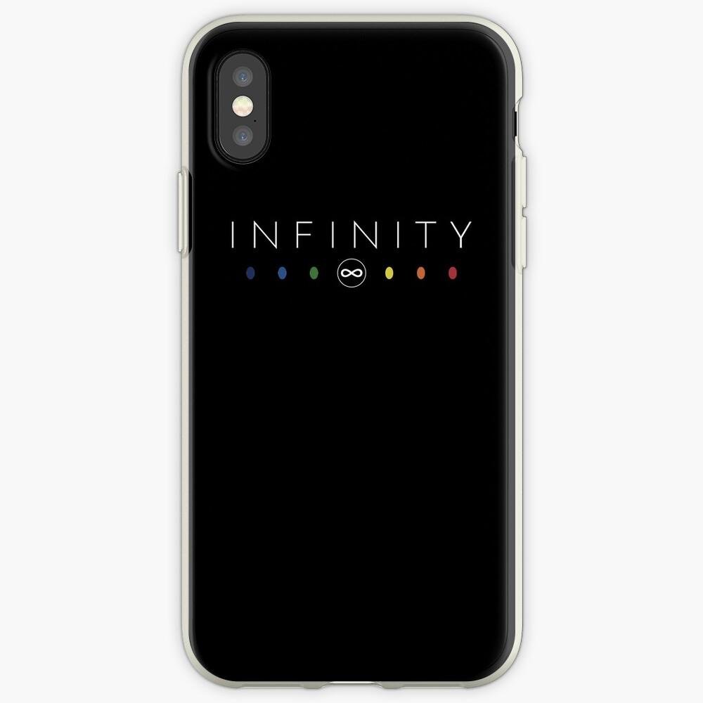 Infinity - Blanco limpio Vinilos y fundas para iPhone