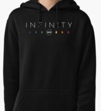 Infinity - White Clean Pullover Hoodie
