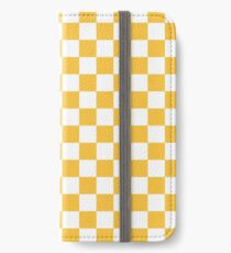 YELLOW CHECK iPhone Wallet/Case/Skin