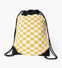 YELLOW CHECK Drawstring Bag