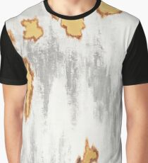 Background with white, yellow and gray Graphic T-Shirt