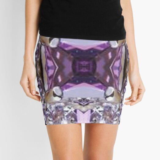 Amethyst, unorthodox, refined, exquisite, elegant, pattern, tracery, weave, template Mini Skirt