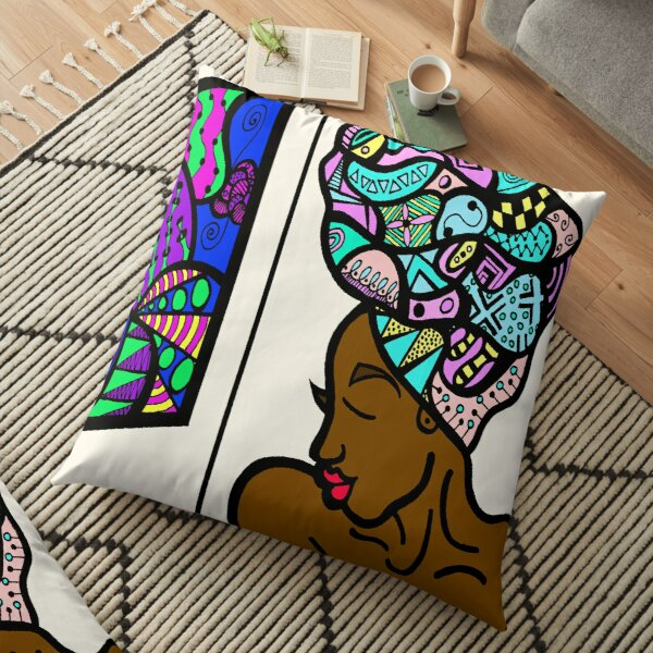 Melanin Floor Pillow