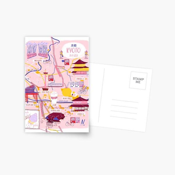 Kyoto map Postcard