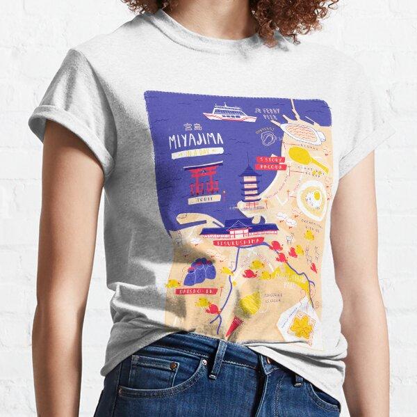 Miyajima map Classic T-Shirt