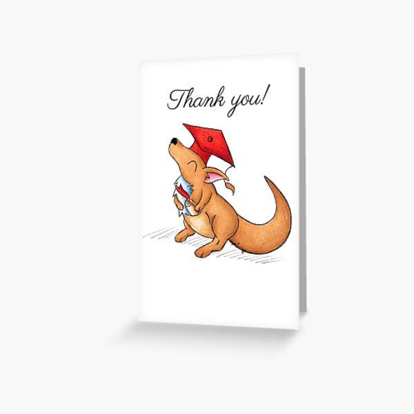 Kangaroo Grad (Thank You Card) Greeting Card