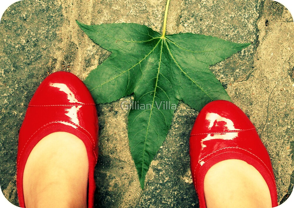 Leaf & Slippers by Gillian Villa