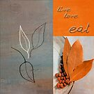 Triloli Kitchen Decor - Orange 02 by Aimelle