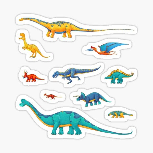Dinosaur Sticker Collection - To Scale! Sticker