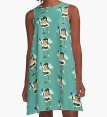 Pirate Frog A-Line Dress