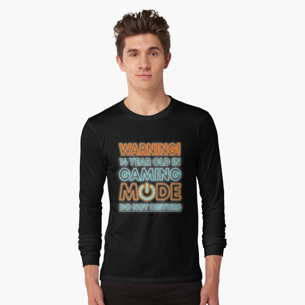 Kids 14th Birthday Shirt Gift Idea For 14 Year Old Gamers Long Sleeve T