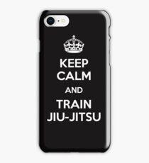 Keep Calm And Train Jiu-Jitsu  iPhone Case/Skin