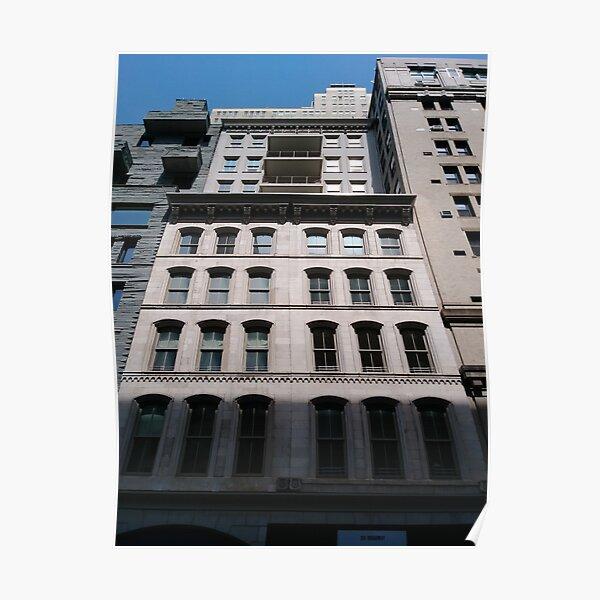 Apartment, New York, Manhattan, New York City, Skyscraper, tower block, high rise building, tower, block, high rise, building Poster