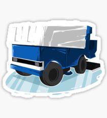 Ice Hockey Ride The Zamboni Goalie Beer League Sticker