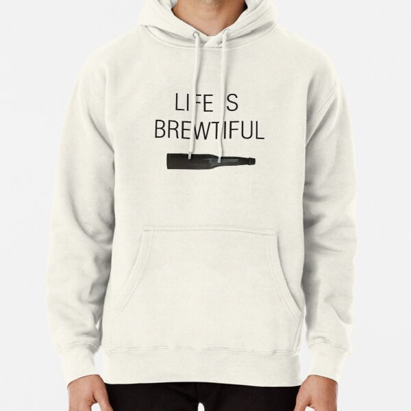 Boys Girls Life is Brewtiful Teen Youth Sweater White L
