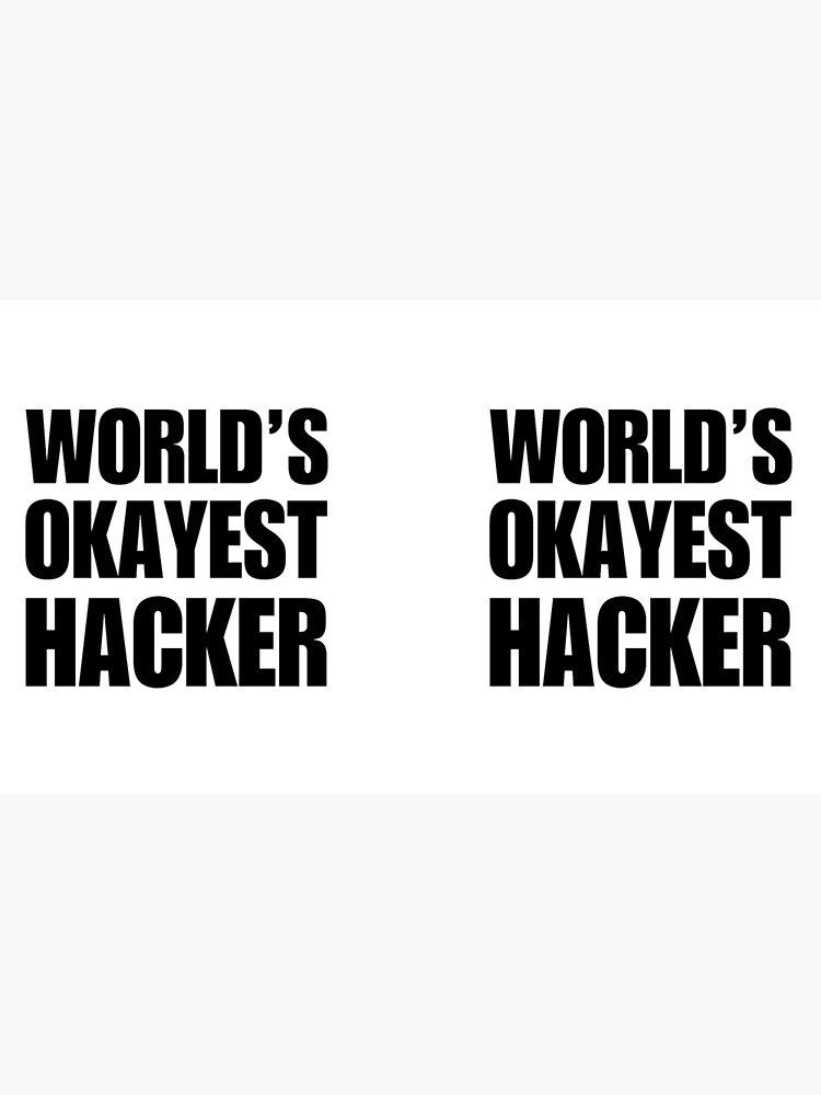 Funny World's Okayest Hacker Gift For Computer Nerds Coffee Mug by christianadams