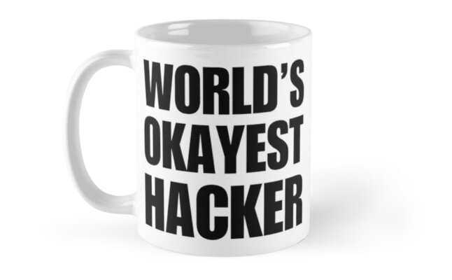 Funny World's Okayest Hacker Gift For Computer Nerds Coffee Mug Classic Mugs