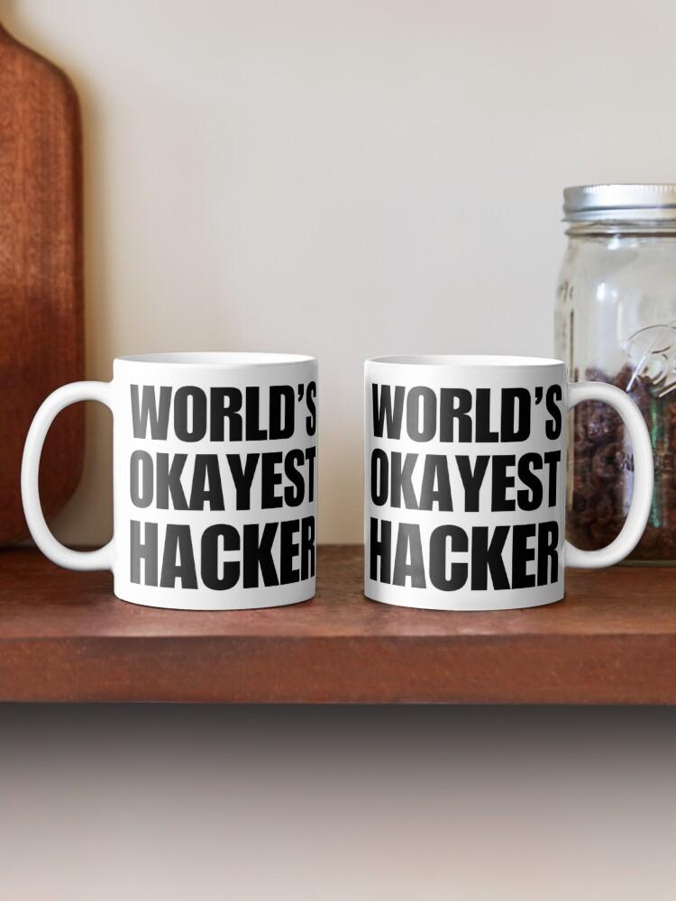 Alternate view of Funny World's Okayest Hacker Gift For Computer Nerds Coffee Mug Mug