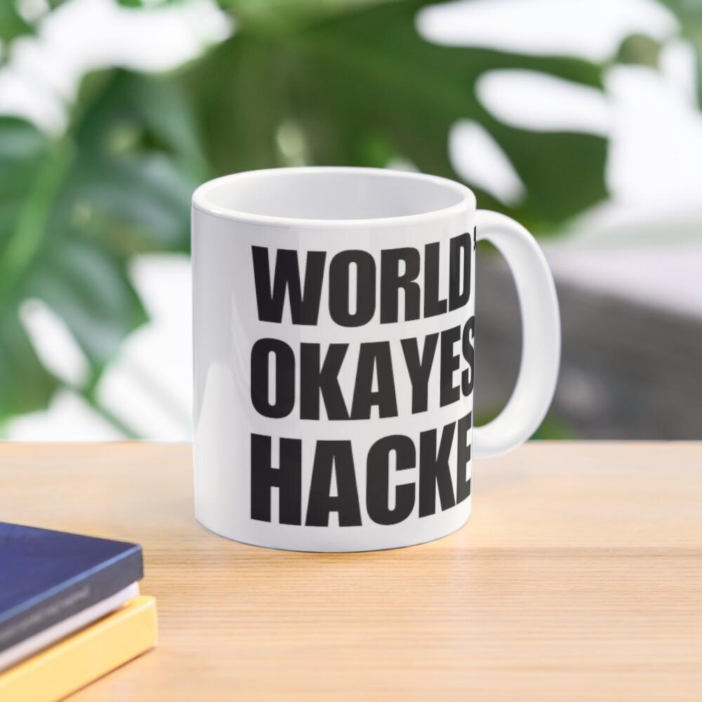 Funny World's Okayest Hacker Gift For Computer Nerds Coffee Mug Mug