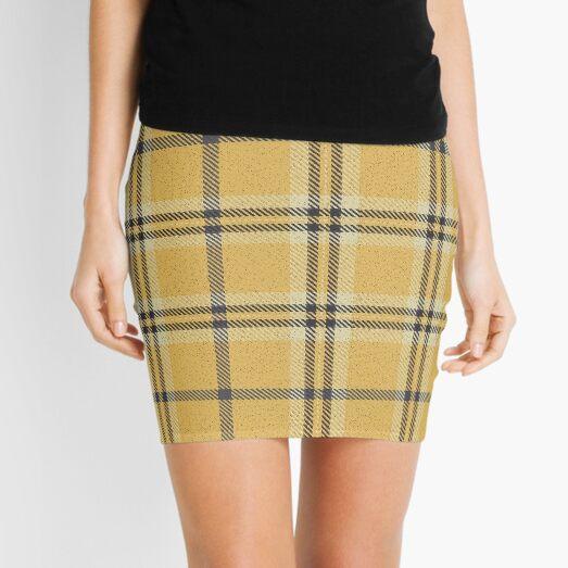 plaid yellow tartan Mini Skirt