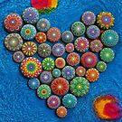 Mandala Stone Heart by Elspeth McLean