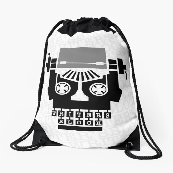 Writer's Block II Drawstring Bag