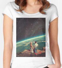 Camiseta entallada de cuello redondo Amor